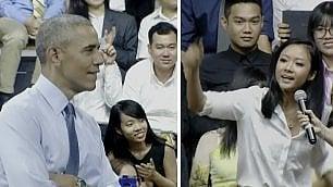 Obama incontra i giovani  e invita la rapper a cantare