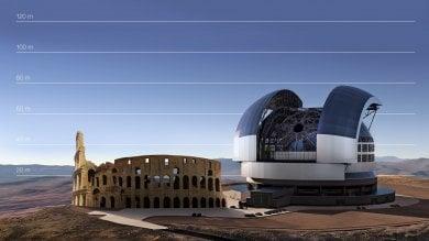 Ecco il super telescopio E-ELT   foto    per l'Italia una commessa di 400 milioni