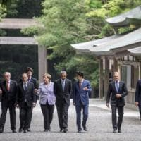 G7: migranti problema globale, politica monetaria non basta per la crescita. Obama contro...