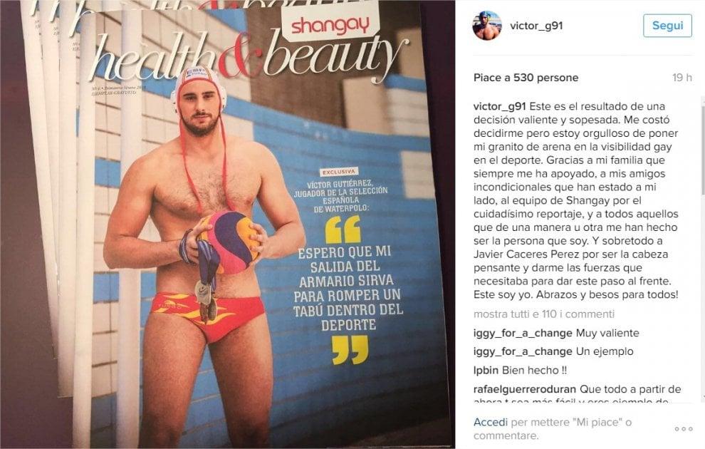 """Spagna, il coming out del pallanuotista: """"Spero serva a rompere un tabù nello sport"""""""