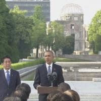 Obama primo presidente Usa a Hiroshima: