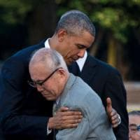 "Obama primo presidente Usa a Hiroshima: ""Costruiamo mondo libero da armi nucleari"""
