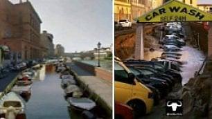 Firenze come Venezia e il Lungarno autolavaggio: lironia sui social per la voragine in centro