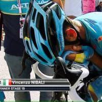 Giro, Nibali: impresa e lacrime. Kriujswijk cade e crolla, il film della tappa
