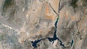Lago Mead mai così a secco riserva d'acqua ai minimi storici