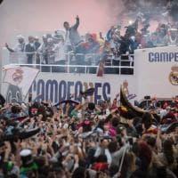 Real, festa con 30 mila tifosi a Madrid