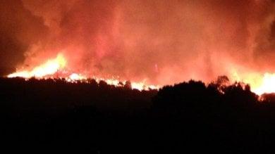 """Il grande incendio di Pantelleria   foto   sta riprendendo vigore. """"Atto criminale"""""""