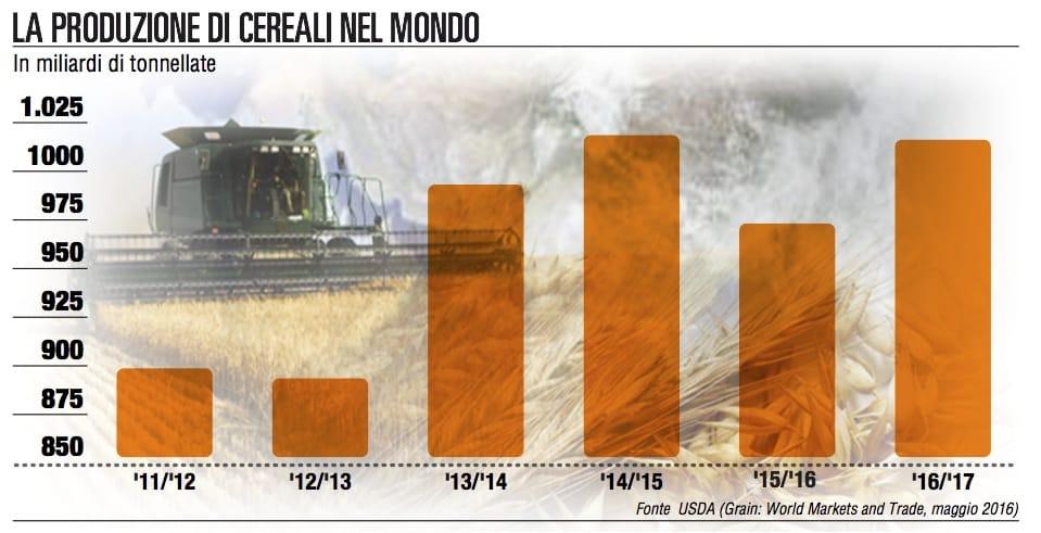 Grano, sarà un raccolto record ma crolla il consumo di pane