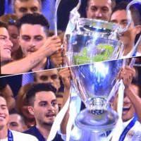 Finale Champions, italiano elude i controlli e festeggia con i giocatori del Real Madrid