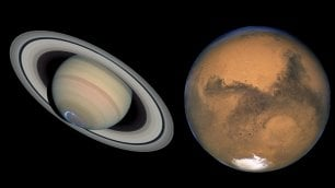 Marte vicino alla Terra e Saturno si illumina: lo show dei pianeti