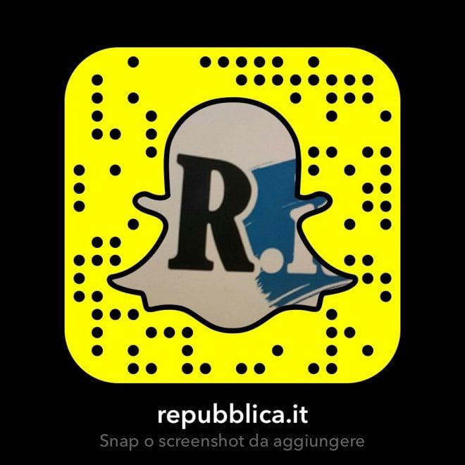 Repubblica su Snapchat, ecco come seguirci