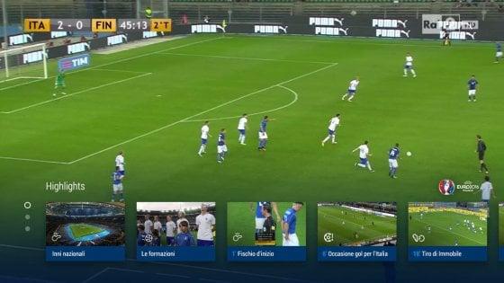 La Rai lancia l'applicazione tv per seguire gli Europei