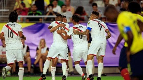 Coppa America, è pari spettacolo in Perù-Ecuador: 2-2