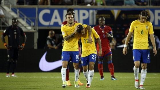 Coppa America, tris di Coutinho accende il Brasile, 7-1 a Haiti