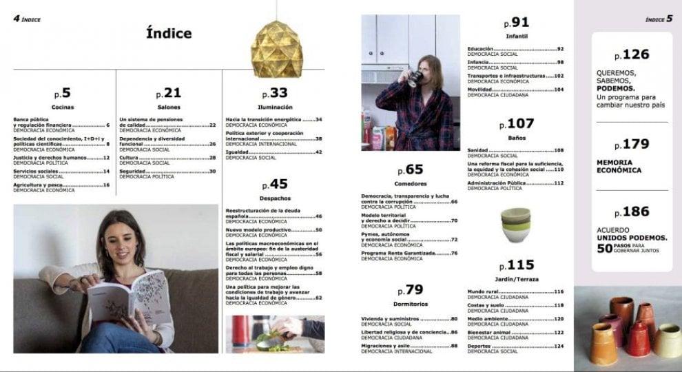 Spagna il programma elettorale di podemos ispirato al for Ikea programma