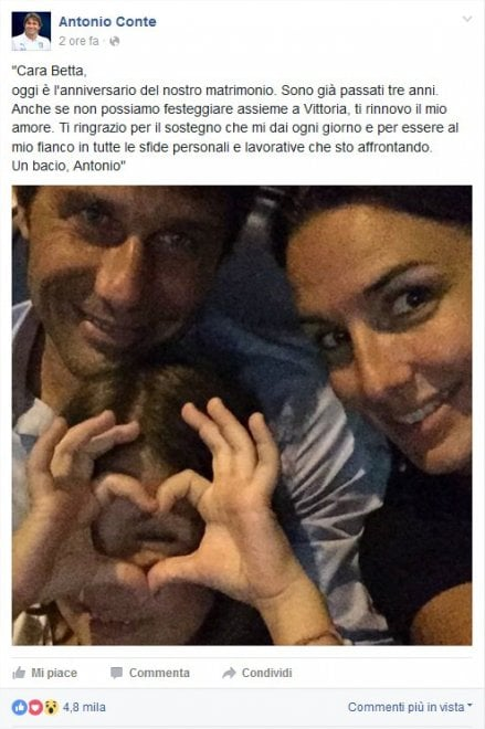 Anniversario Di Matrimonio Facebook.Conte L Anniversario Di Nozze Festeggiato Su Facebook La Repubblica