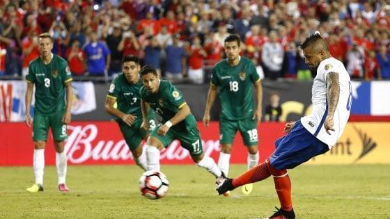 Coppa America: doppio Vidal trascina il Cile, 2-1 alla Bolivia