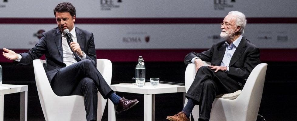 """RepIdee, Renzi: """"Due mandati per il premier. Con il no nella Ue non ci fila più nessuno"""""""