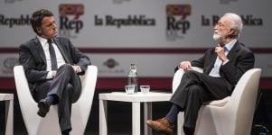 """""""Gli Stati Uniti d'Europa"""" dialogo fra Scalfari e Renzi   vd"""