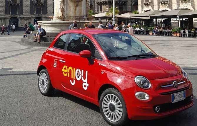 Il car sharing di Enjoy sbarca in Sicilia
