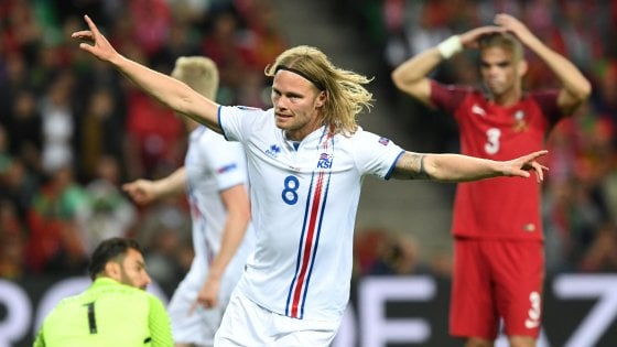 Portogallo-Islanda 1-1: flop Ronaldo, gol storico di Bjarnason