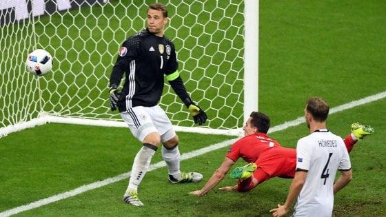 Germania-Polonia 0-0: Milik sbaglia, i tedeschi si salvano