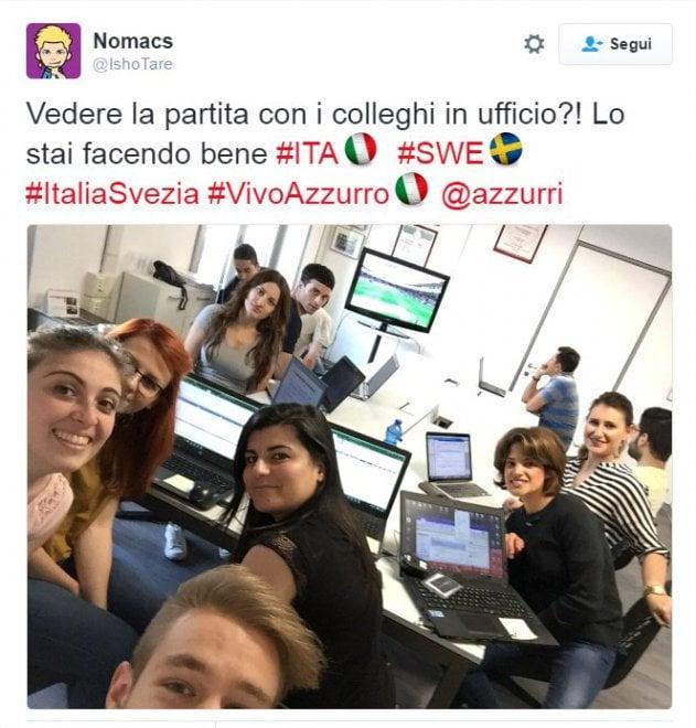 Giocano gli azzurri, l'Italia si ferma: il match si guarda in ufficio