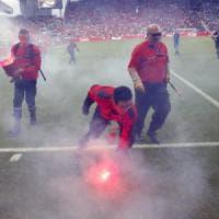 Repubblica Ceca-Croazia 2-2: rimonta ceca, follia ultras sugli spalti