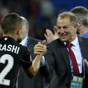 """Romania-Albania, De Biasi: """"Dovevamo solo vincere e l'abbiamo fatto"""""""