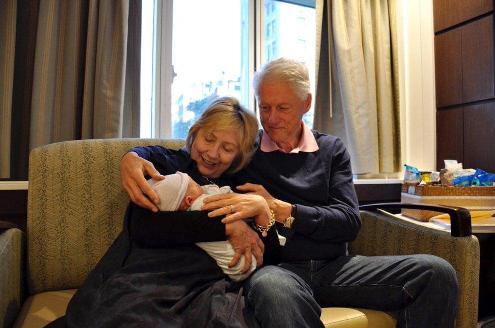 Hillary Clinton nonna bis: nasce il piccolo Aidan