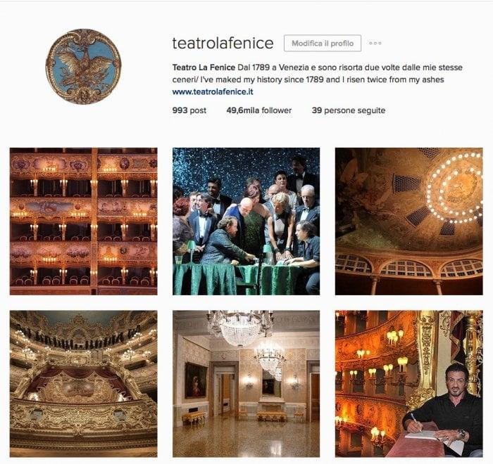 La Fenice sbanca su Instagram: tra foto d'archivio e backstage è tra i teatri più seguiti