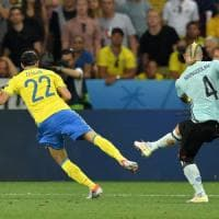 Svezia-Belgio 0-1: finale triste per Ibra, lo elimina Nainggolan