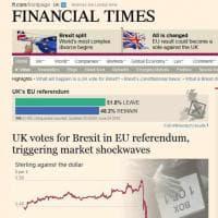 Brexit, la vittoria del 'Leave': la notizia sui siti britannici