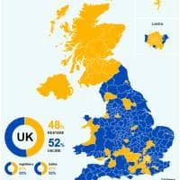 Brexit, la mappa del voto