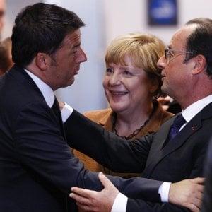 Brexit: Renzi va all'Eliseo, Salvini esulta e chiede un referendum. Mattarella: rispettiamo esito con rammarico