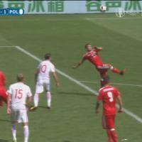 Svizzera, Shaqiri segna in rovesciata. Il gol è un'opera d'arte