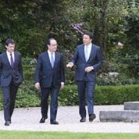 Hollande-Renzi: vertice all'Eliseo