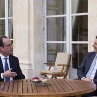 """""""Per salvare l'Unione  abbiamo sei mesi"""": il patto Renzi-Hollande"""