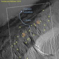 Il cammino di Curiosity verso l'acqua di Marte