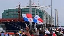 """Panama, porta container cinese inaugura  il canale """"italiano"""""""