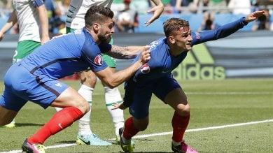Francia-Irlanda 2-1: uragano Griezmann, transalpini ai quarti