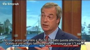 Farage si rimangia la promessa  e la giornalista lo bacchetta
