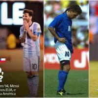 """Messi sbaglia come Roby a Usa '94. E in Brasile ironizzano: """"Baggio sei tu?"""""""