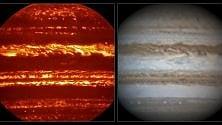 Immagini mozzafiato di Giove in attesa di Juno