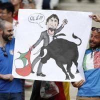 Italia-Spagna, sugli spalti un tifo da corrida