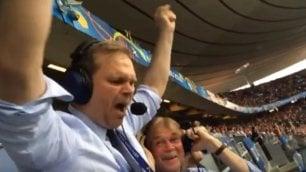 Islanda batte Inghilterra il telecronista è incontenibile