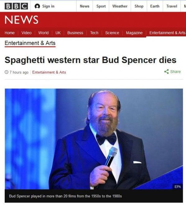 Bud Spencer, dall'India al Messico: la morte dell'attore sui siti del mondo