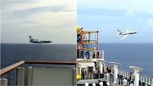 Volo radente su nave da crociera Aereo francese fa infuriare turisti