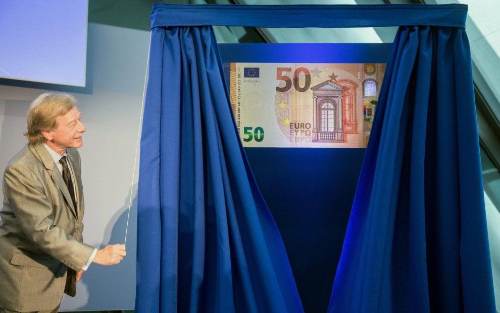 Bce, ecco la nuova banconota da 50 euro: circolerà da aprile 2017