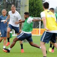 Inter, mistero in allenamento: sparisce lo sponsor dalle maglie